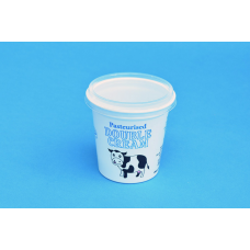 140 ML DOUBLE CREAM STOCK DESIGN POT - 71MM