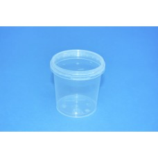 155 ML CLEAR TAMPER EVIDENT TUB and LID