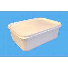 2 LITRE RECTANGULAR WHITE TUB