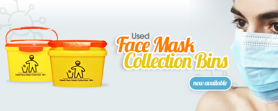 Face Mask collection bins