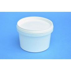 550 ML WHITE TAMPER EVIDENT TUB and LID
