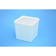 4 LITRE SQUARE TAMPER EVIDENT NATURAL TUB