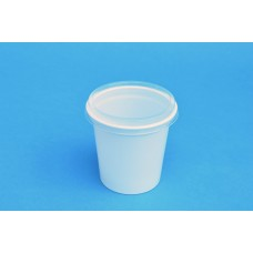 140 ML POLYPROPYLENE WHITE POT - 71MM