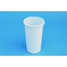 290 ML POLYPROPYLENE WHITE POT - 71MM