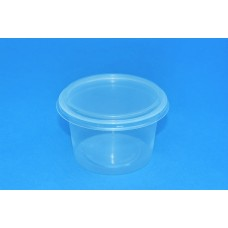 250 ML POLYPROPYLENE CLEAR POT - 97MM