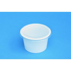 250 ML POLYPROPYLENE WHITE POT - 97MM