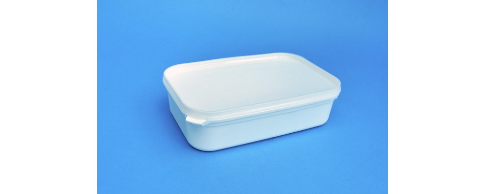 780ml White Ice Cream Tub