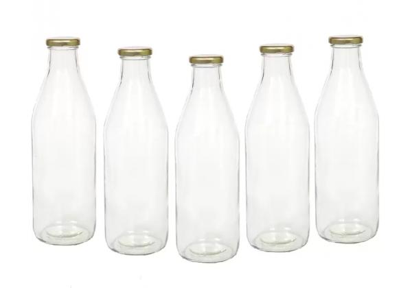 1000ml Glass Milk Bottles with RTO cap x 15