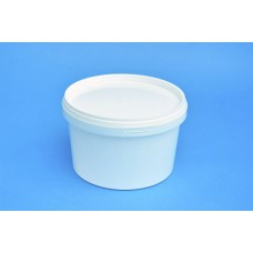 1 LITRE WHITE TUB WITH LID
