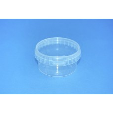 210 ML CLEAR TAMPER EVIDENT TUB and LID