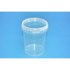 520 ML CLEAR TAMPER EVIDENT TUB and LID
