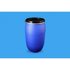 220 LITRE OPEN TOP BLUE POLYDRUM