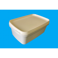 1200 ML WHITE RECTANGULAR TUB